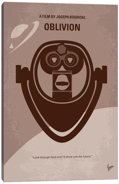 Oblivion Minimal Movie Poster Canvas Art Print