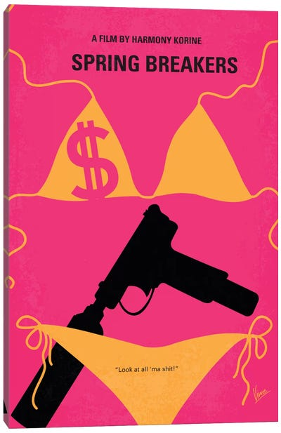 Spring Breakers Minimal Movie Poster Canvas Art Print