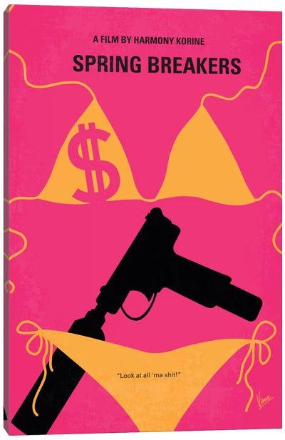 Spring Breakers Minimal Movie Poster Canvas Art Print