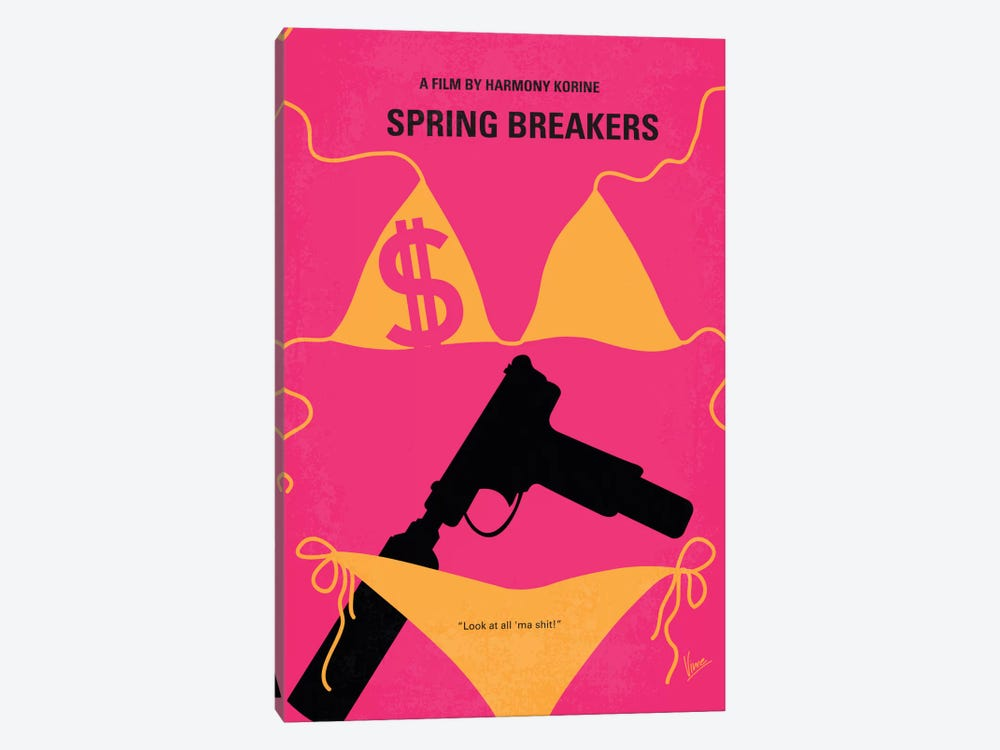 Spring Breakers Minimal Movie Poster by Chungkong 1-piece Art Print