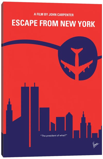 Escape From New York Minimal Movie Poster Canvas Art Print