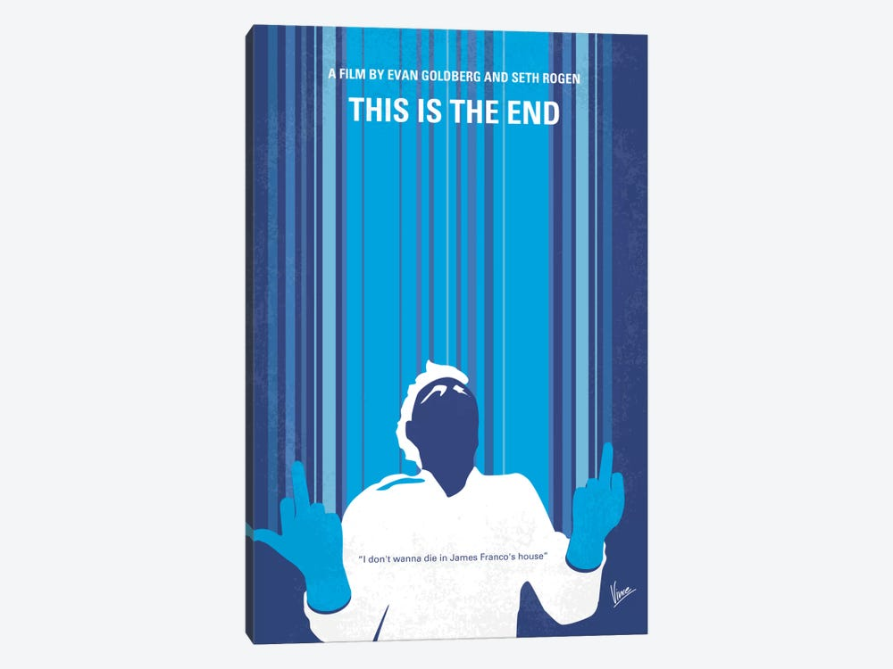 This Is The End Minimal Movie Poster by Chungkong 1-piece Canvas Art Print