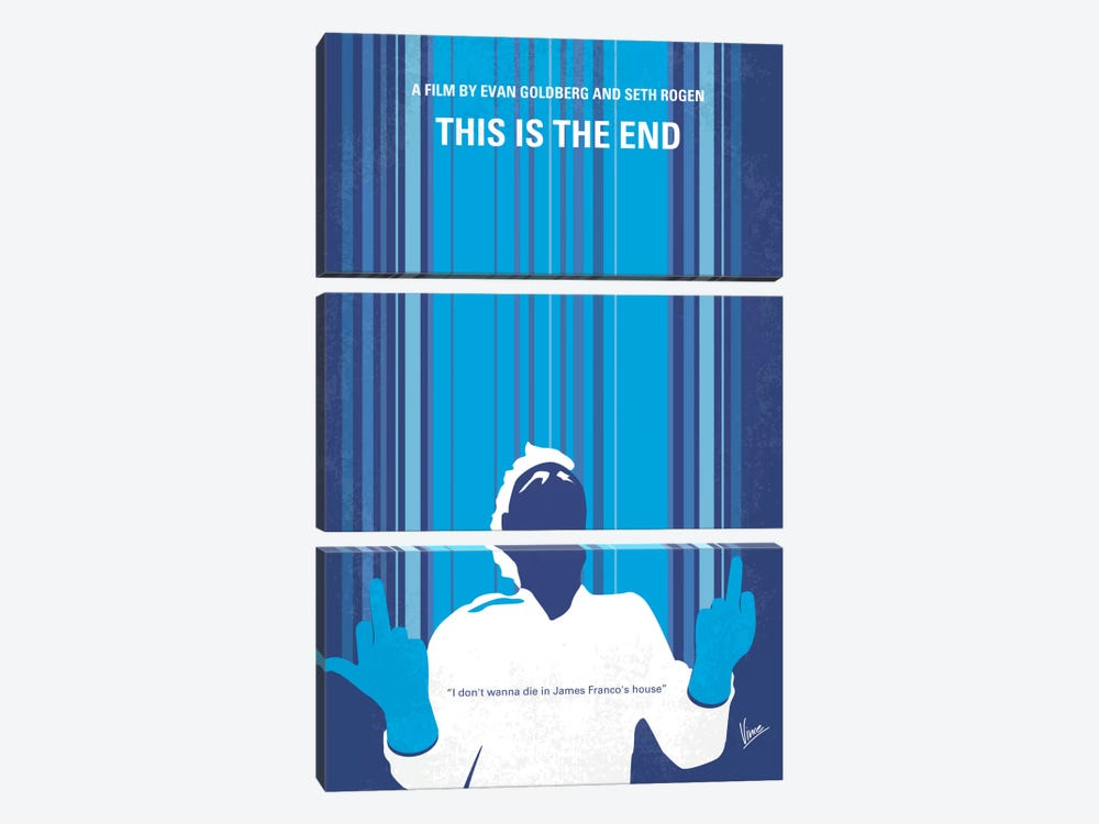 This Is The End Minimal Movie Poster by Chungkong 3-piece Art Print