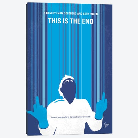 This Is The End Minimal Movie Poster Canvas Print #CKG229} by Chungkong Art Print