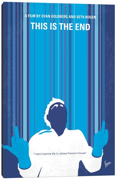 This Is The End Minimal Movie Poster Canvas Art Print