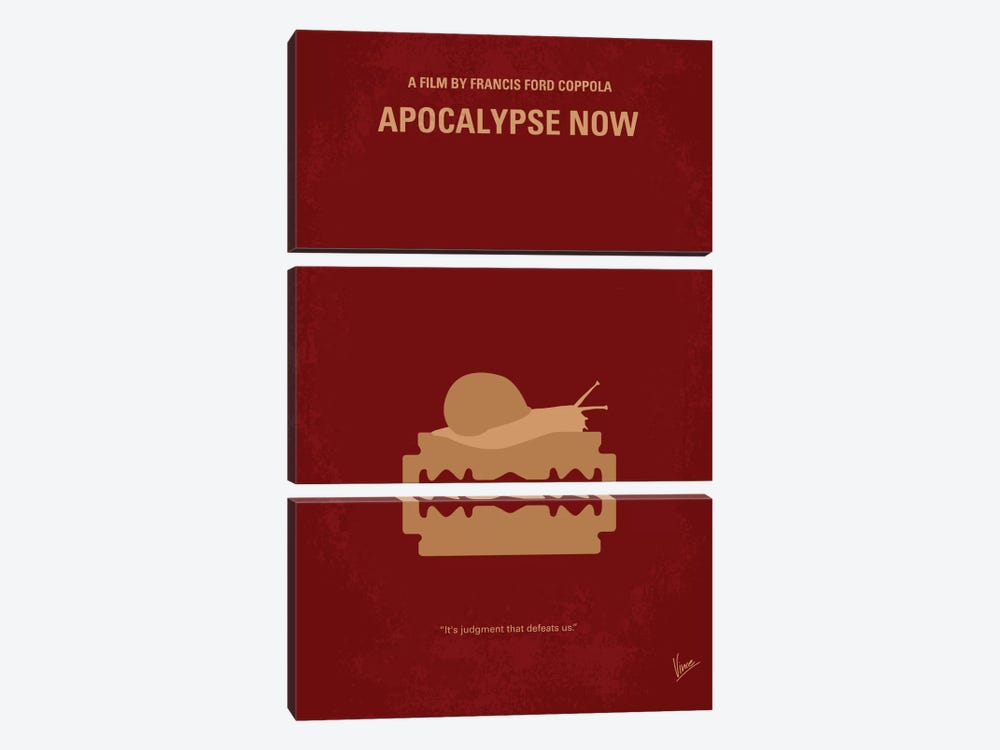 Apocalypse Now Minimal Movie Poster by Chungkong 3-piece Canvas Art Print