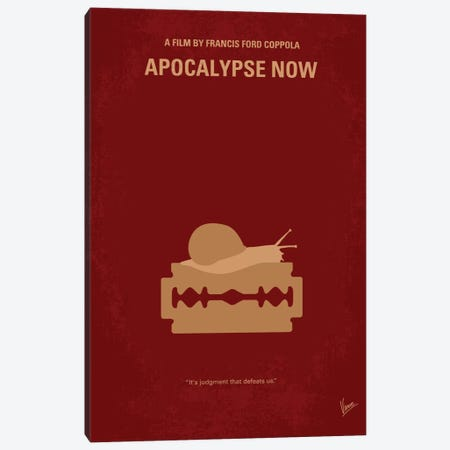 Apocalypse Now Minimal Movie Poster Canvas Print #CKG22} by Chungkong Art Print