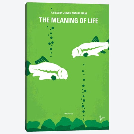 The Meaning Of Life Minimal Movie Poster Canvas Print #CKG231} by Chungkong Canvas Artwork
