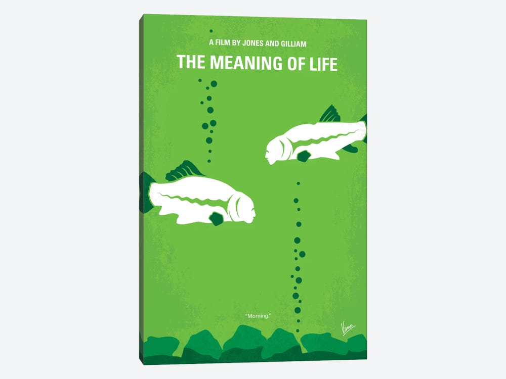 The Meaning Of Life Minimal Movie Poster by Chungkong 1-piece Canvas Artwork