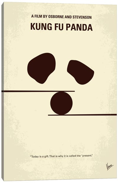 Kung Fu Panda Minimal Movie Poster Canvas Print #CKG232