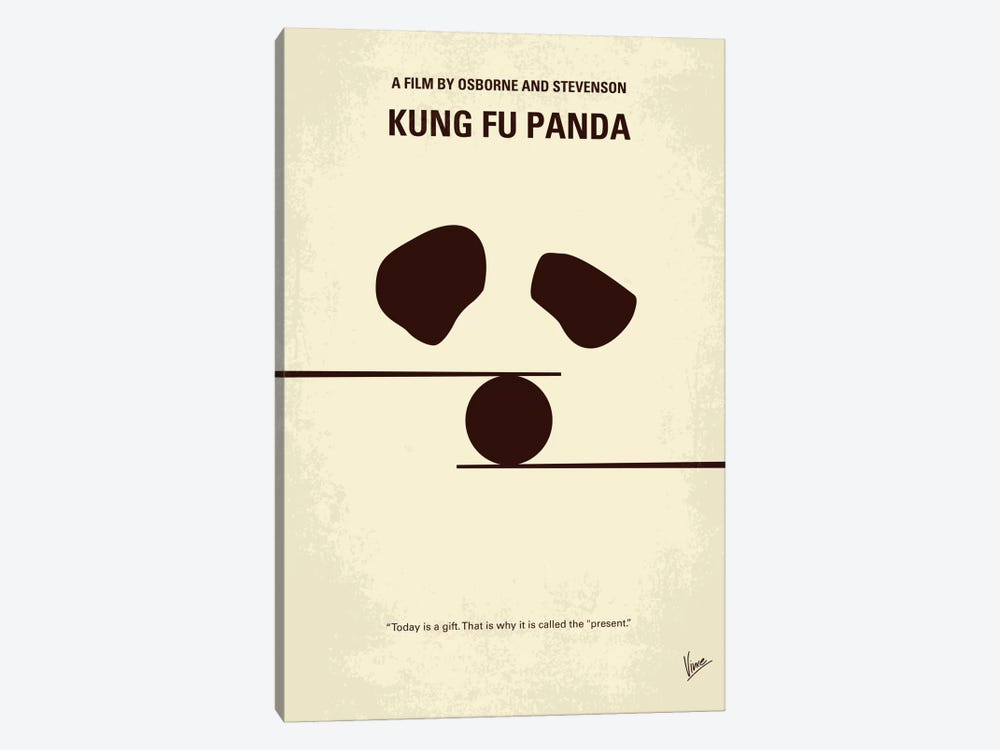 Kung Fu Panda Minimal Movie Poster by Chungkong 1-piece Canvas Print