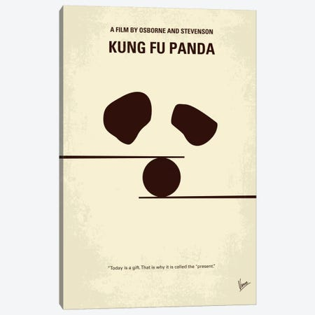 Kung Fu Panda Minimal Movie Poster Canvas Print #CKG232} by Chungkong Canvas Artwork