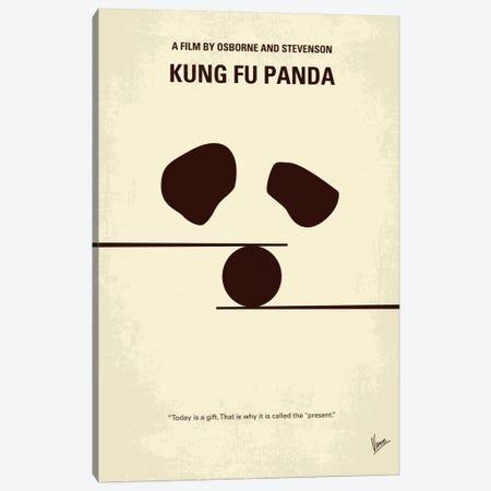 Kung Fu Panda Minimal Movie Poster Canvas Print #CKG232} by Chungkong Canvas Artwork