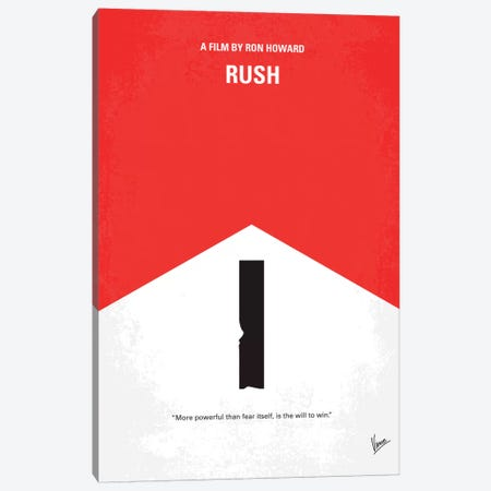 Rush Minimal Movie Poster Canvas Print #CKG233} by Chungkong Canvas Art