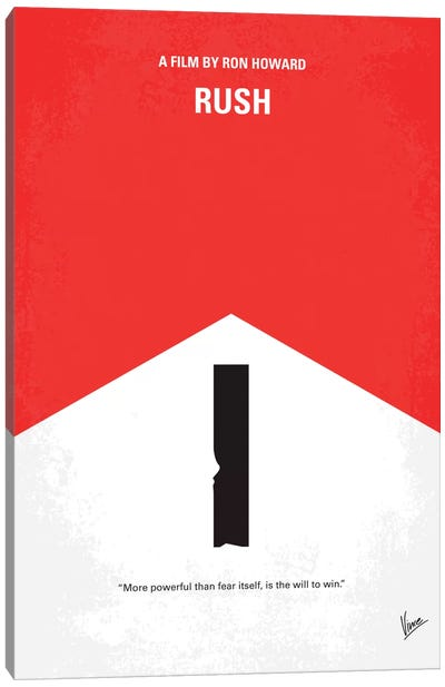 Rush Minimal Movie Poster Canvas Art Print