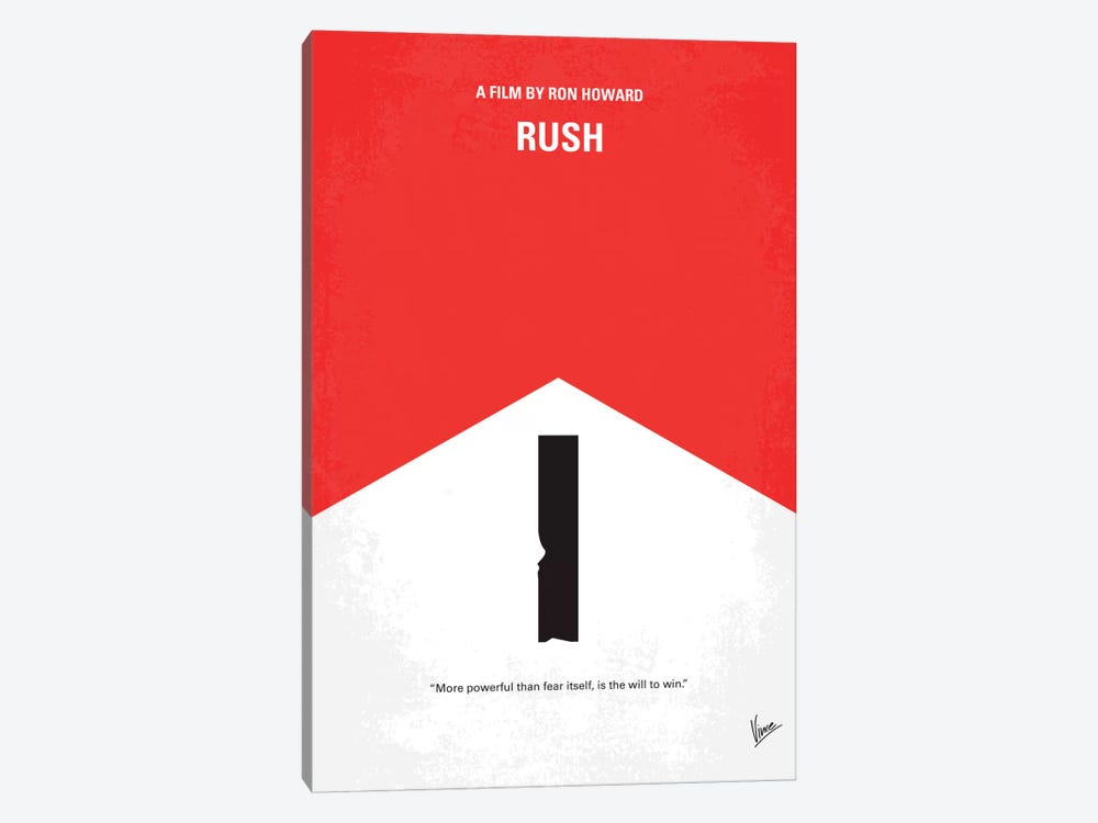 Rush Minimal Movie Poster by Chungkong 1-piece Canvas Wall Art