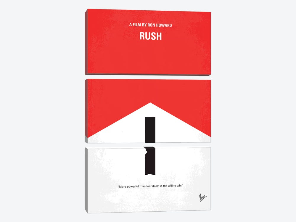 Rush Minimal Movie Poster by Chungkong 3-piece Canvas Artwork