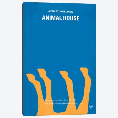Animal House Minimal Movie Poster Canvas Print #CKG235} by Chungkong Canvas Art Print