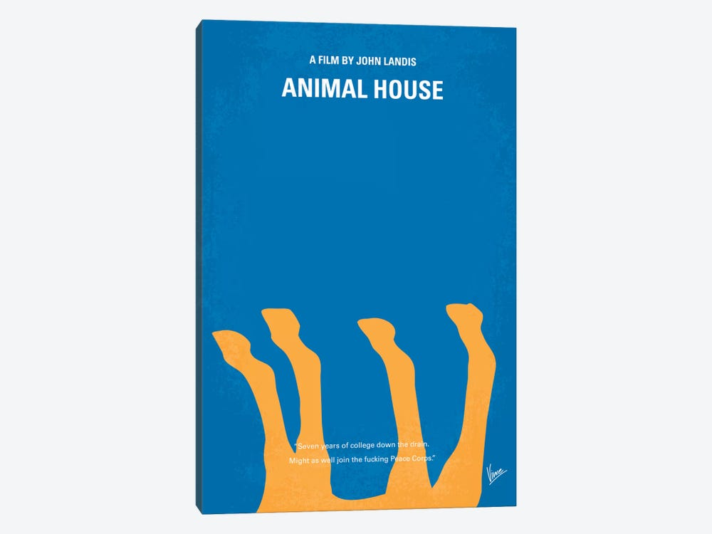 Animal House Minimal Movie Poster by Chungkong 1-piece Canvas Artwork