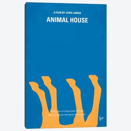 Animal House Minimal Movie Poster Canvas Print #CKG235} by Chungkong Canvas Art Print