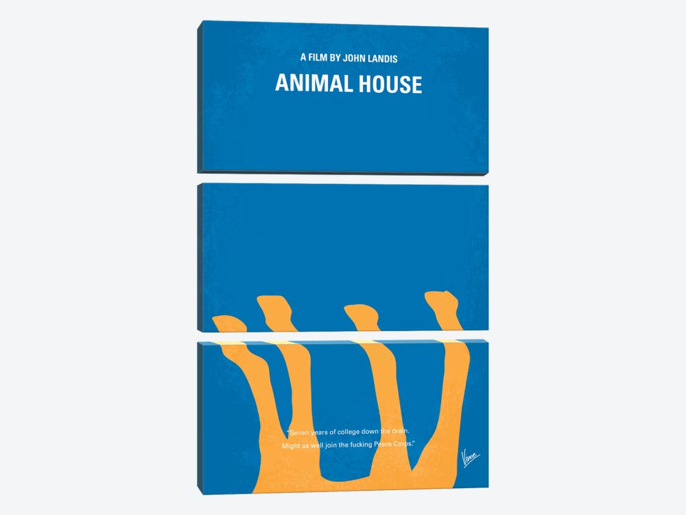 Animal House Minimal Movie Poster by Chungkong 3-piece Canvas Art
