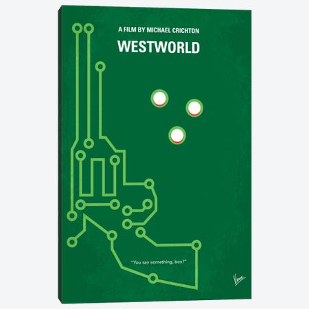 Westworld Minimal Movie Poster Canvas Print #CKG236} by Chungkong Art Print