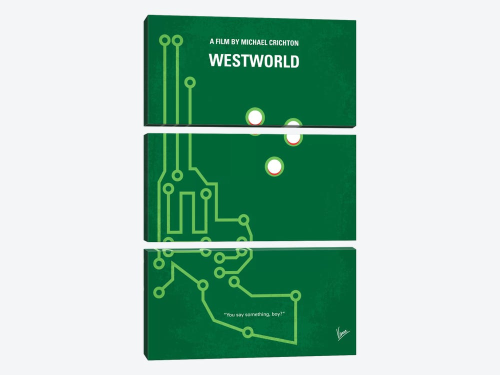 Westworld Minimal Movie Poster by Chungkong 3-piece Canvas Print