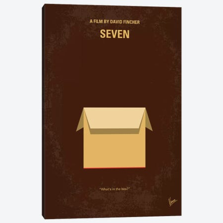 Seven Minimal Movie Poster Canvas Print #CKG238} by Chungkong Canvas Art