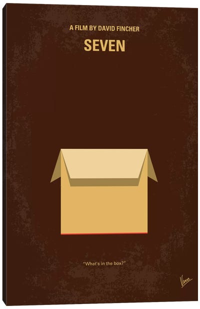 Seven Minimal Movie Poster Canvas Art Print