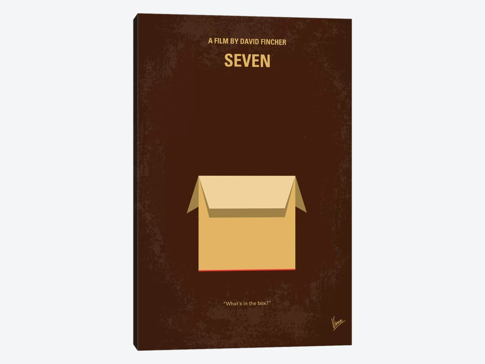 Seven Minimal Movie Poster by Chungkong 1-piece Art Print