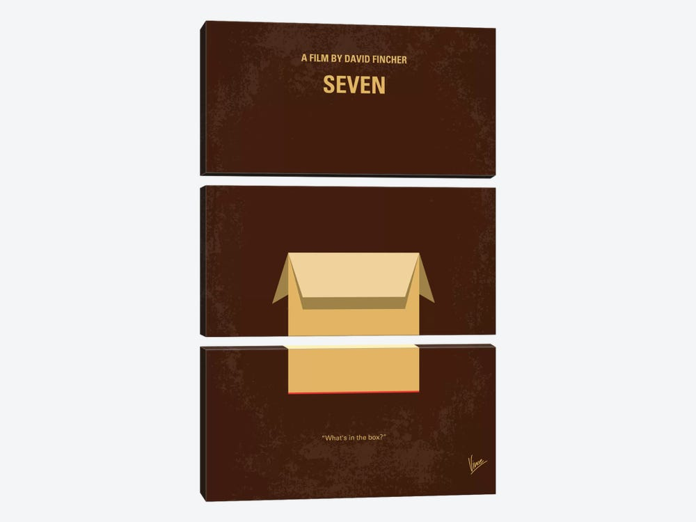 Seven Minimal Movie Poster by Chungkong 3-piece Canvas Print