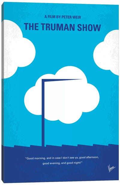 The Truman Show Minimal Movie Poster Canvas Art Print