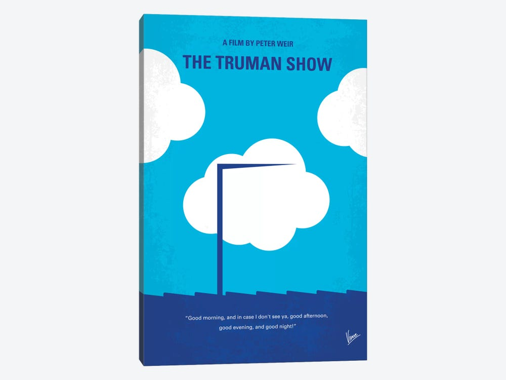 The Truman Show Minimal Movie Poster by Chungkong 1-piece Canvas Wall Art