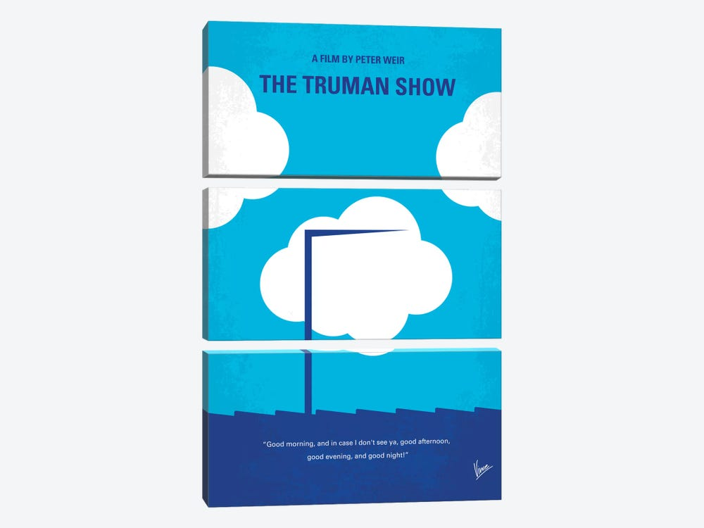 The Truman Show Minimal Movie Poster by Chungkong 3-piece Canvas Artwork
