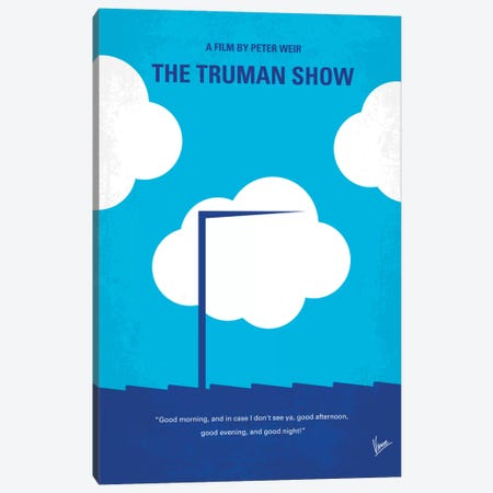 The Truman Show Minimal Movie Poster Canvas Print #CKG239} by Chungkong Canvas Artwork
