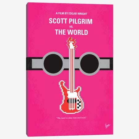Scott Pilgrim vs. The World Minimal Movie Poster Canvas Print #CKG241} by Chungkong Art Print