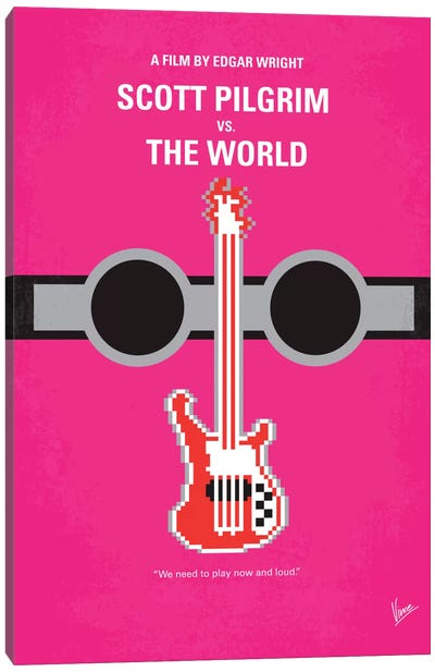 Scott Pilgrim vs. The World Minimal Movie Poster Canvas Art Print