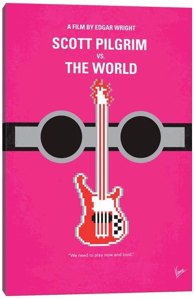Scott Pilgrim vs. The World Minimal Movie Poster Canvas Art Print
