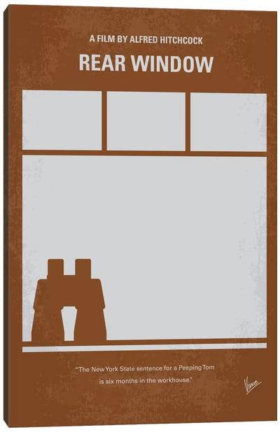 Rear Window Minimal Movie Poster Canvas Art Print