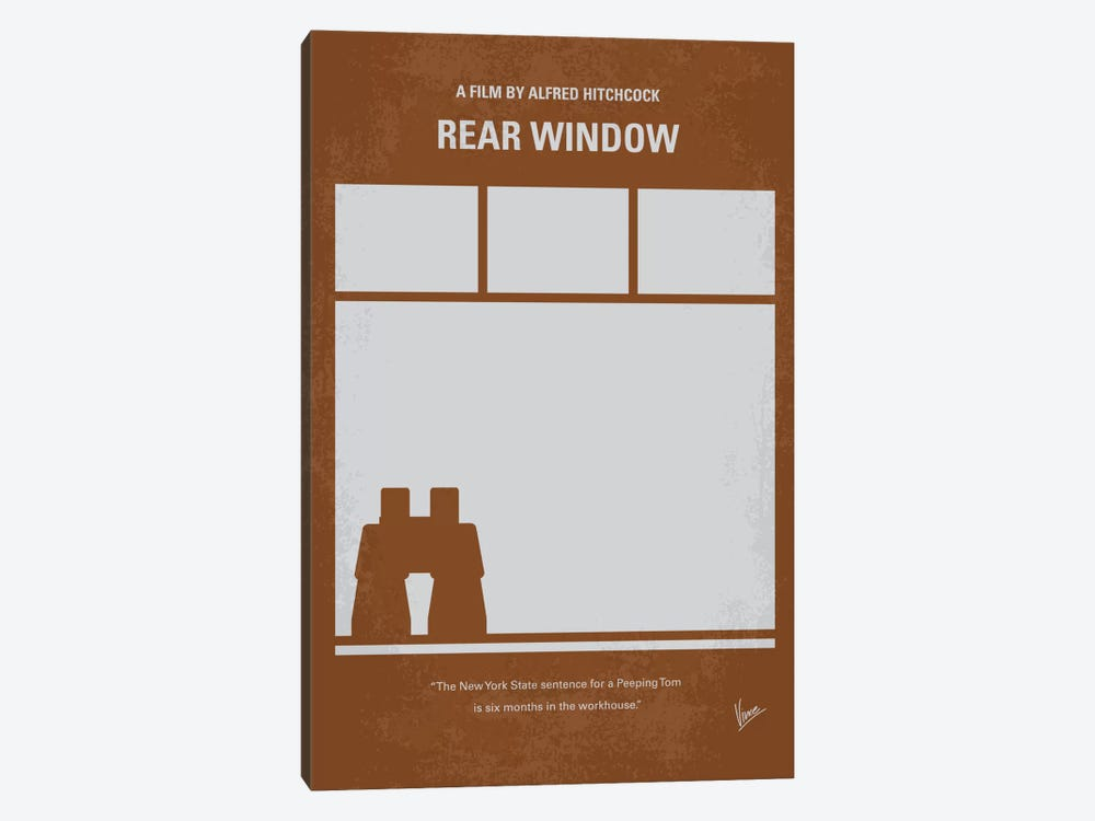 Rear Window Minimal Movie Poster by Chungkong 1-piece Canvas Art Print