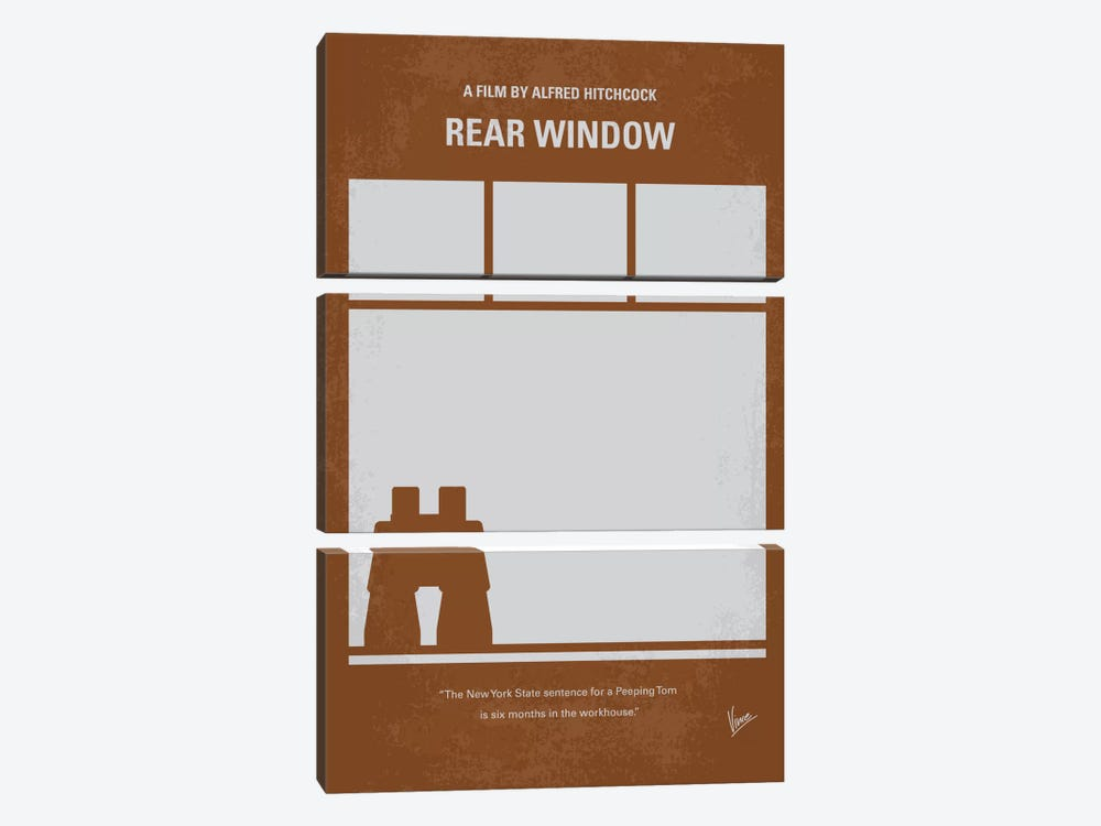 Rear Window Minimal Movie Poster by Chungkong 3-piece Canvas Art Print