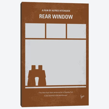 Rear Window Minimal Movie Poster 3-Piece Canvas #CKG243} by Chungkong Canvas Art Print