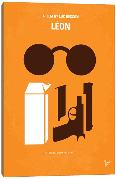 Leon Minimal Movie Poster Canvas Art Print