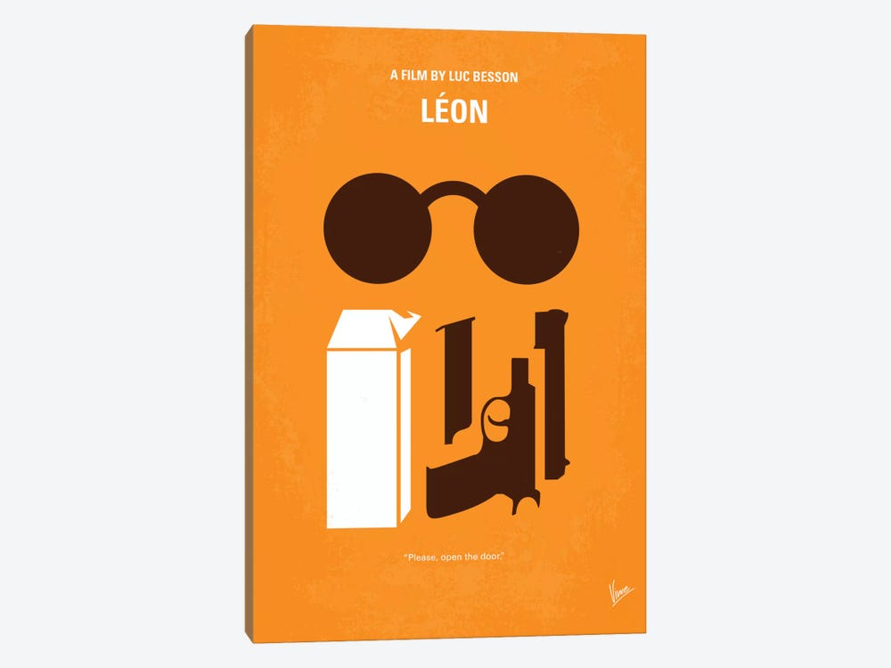 Leon Minimal Movie Poster by Chungkong 1-piece Canvas Art
