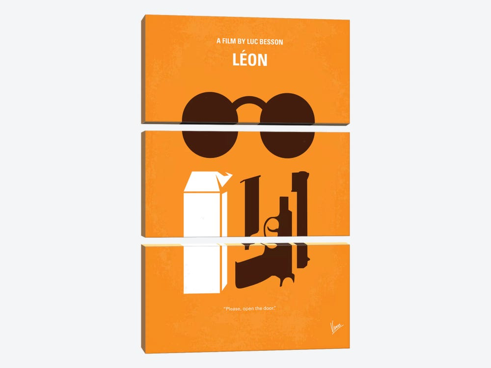 Leon Minimal Movie Poster by Chungkong 3-piece Canvas Artwork