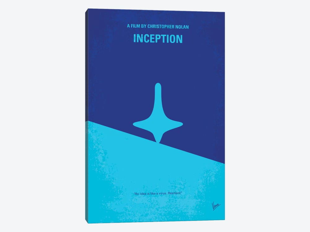 Inception Minimal Movie Poster by Chungkong 1-piece Art Print