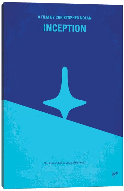 Inception Minimal Movie Poster Canvas Art Print
