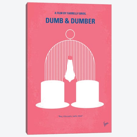 Dumb & Dumber Minimal Movie Poster Canvas Print #CKG246} by Chungkong Canvas Artwork