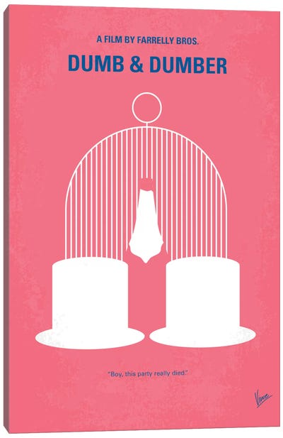 Dumb & Dumber Minimal Movie Poster Canvas Art Print