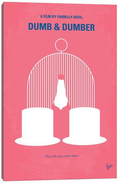 Dumb & Dumber Minimal Movie Poster Canvas Print #CKG246